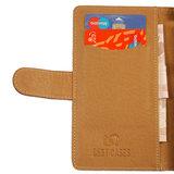 BestCases Bruin Echt Leer Booktype Hoesje voor Samsung Galaxy Young S6310_