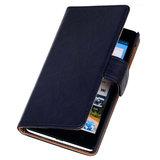 BestCases Zwart Luxe Echt Lederen Booktype Hoesje voor Sony Xperia Z1_