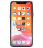 Leder Design Back Cover voor iPhone 11 Pro Max Grijs_