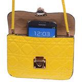 BestCases Geel Design Trendy Smartphone Wallet Kleine Handtas Schoudertas_