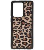 Bestcases Luipaard Leer Back Cover Telefoonhoesje Samsung Galaxy S20 Ultra_
