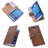 Bestcases Vintage Bruin Book Cover Samsung Galaxy S4 i9500