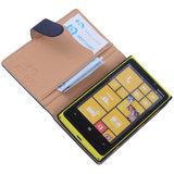 BestCases Stand Navy Blue Echt Lederen Book Wallet Hoesje voor Nokia Lumia 920_