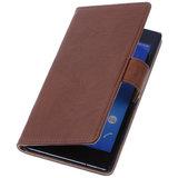 BestCases Bruin Hoesje voor Sony Xperia T3 Stand Echt Lederen Booktype_