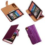 PU Leder Lila HTC Desire 820 Book/Wallet Case/Cover