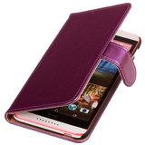 PU Leder Lila Hoesje voor HTC Desire 820 Book/Wallet Case/Cover_