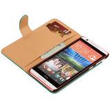 PU Leder Groen Hoesje voor HTC Desire 820 Book/Wallet Case/Cover_