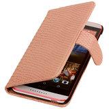BC Slang Pink Hoesje voor HTC Desire 820 Book/Wallet Case_