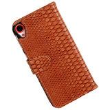 BC Slang Bruin Hoesje voor HTC Desire 820 Book/Wallet Case_