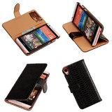 Slang Zwart HTC Desire 820 Book/Wallet Case Hoesje