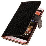 BC Slang Zwart Hoesje voor HTC Desire 820 Book/Wallet Case_