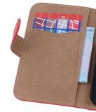HTC Desire 820 Effen Booktype Wallet Hoesje Rood