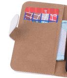 HTC Desire 820 Effen Booktype Wallet Hoesje Wit