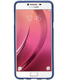 Blauw Zand TPU back case cover hoesje voor Samsung Galaxy C7