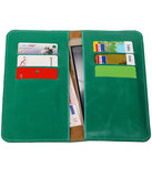 Groen Pull-up Large Pu portemonnee wallet voor Huawei