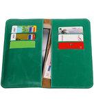 Groen Pull-up Large Pu portemonnee wallet voor Samsung_