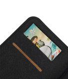 Zwart Samsung Galaxy C7 TPU wallet case booktype hoesje HM Book
