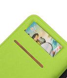 Groen Samsung Galaxy C7 TPU wallet case booktype hoesje HM Book
