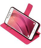 Roze Samsung Galaxy C7 TPU wallet case booktype hoesje HM Book