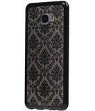 Zwart Brocant TPU back case cover hoesje voor Samsung Galaxy C7