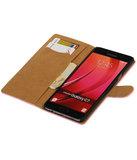 Grijs Mini Slang booktype wallet cover hoesje voor Samsung Galaxy C7