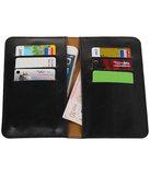 Universele Zwart Pull-up Medium Pu portemonnee wallet hoesje