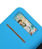 Blauw Sony Xperia XZ TPU wallet case booktype hoesje HM Book