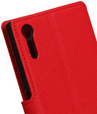 Rood Sony Xperia XZ TPU wallet case booktype hoesje HM Book