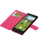 Roze Sony Xperia XZ TPU wallet case booktype hoesje HM Book