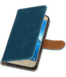 Hoesje voor Huawei P9 Lite mini / Y6 Pro 2017 Pull-Up booktype blauw_
