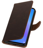 Hoesje voor Huawei P Smart Plus Pull-Up Booktype Mocca_