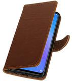 Hoesje voor Huawei P Smart Plus Pull-Up Booktype Bruin_