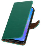 Hoesje voor Huawei P Smart Plus Pull-Up Booktype Groen_