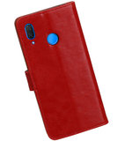 Hoesje voor Huawei P Smart Plus Pull-Up Booktype Rood_
