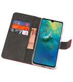 Wallet Cases Hoesje voor Huawei Mate 20 Rood_