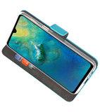 Wallet Cases Hoesje voor Huawei Mate 20 Blauw_