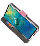 Wallet Cases Hoesje voor Huawei Mate 20 Roze_