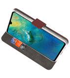 Wallet Cases Hoesje voor Huawei Mate 20 Bruin_