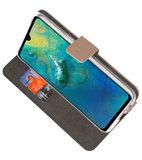 Wallet Cases Hoesje voor Huawei Mate 20 Goud_