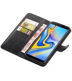 Hoesje voor Samsung Galaxy J6 Plus Pull-Up Booktype Zwart_