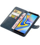 Hoesje voor Samsung Galaxy J6 Plus Pull-Up Booktype Blauw_