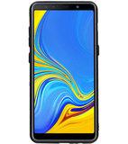 Hexagon Hard Case voor Samsung Galaxy A8 Plus 2018 Zwart_