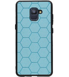 Hexagon Hard Case voor Samsung Galaxy A8 Plus 2018 Blauw_