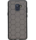 Hexagon Hard Case voor Samsung Galaxy A8 Plus 2018 Grijs_