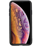 Staand Back Cover 1 Pasjes voor iPhone XS Max Mocca_