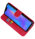 Bookstyle Wallet Cases Hoes voor Huawei P Smart 2019 Rood_