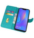 Bookstyle Wallet Cases Hoes voor Huawei P Smart 2019 Groen_