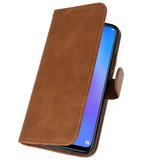 Bookstyle Wallet Cases Hoes voor Huawei P Smart 2019 Bruin_