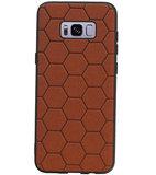 Hexagon Hard Case voor Samsung Galaxy S8 Plus Bruin_