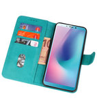 Bookstyle Wallet Cases Hoes voor Honor View 20 Groen_
